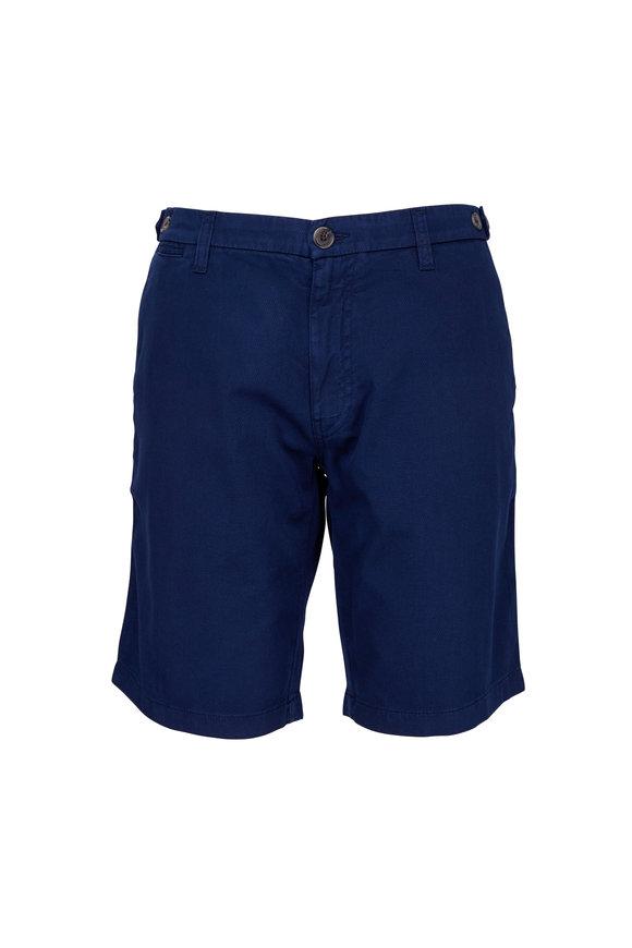 Eleventy Navy Blue Stretch Cotton Bermuda Shorts