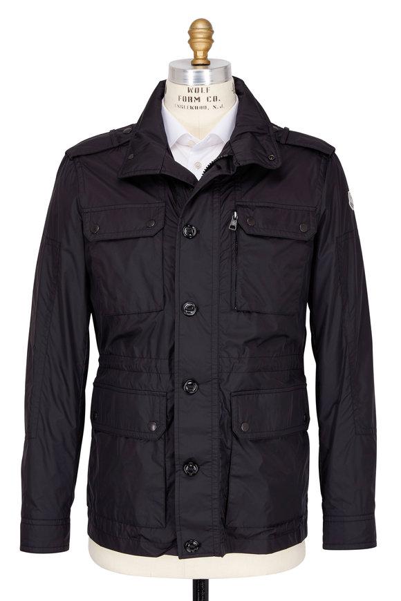 Moncler Black Four Pocket Field Jacket