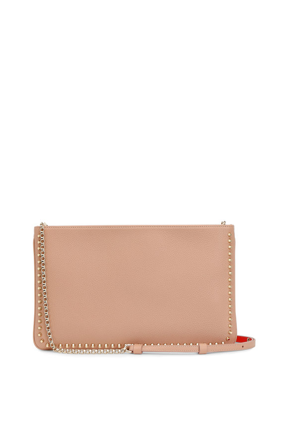 Christian Louboutin Loubiposh Nude Leather Chain Clutch