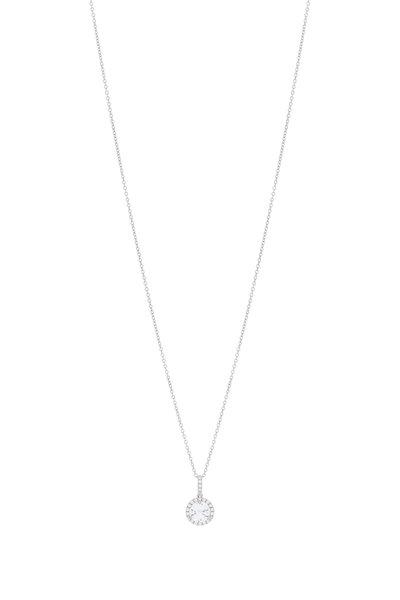 Louis Newman - Platinum Pavé Diamond Pendant Necklace