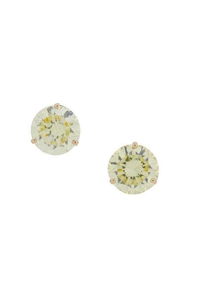 Louis Newman - 18K Yellow Gold Fancy Yellow Diamond Studs