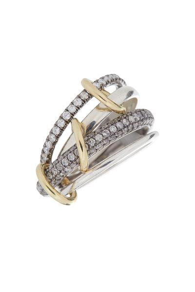 Spinelli Kilcollin - Gold & Silver Diamond Link Vega Ring