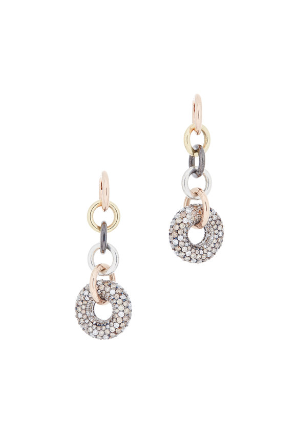 Spinelli Kilcollin 18K Gold & Silver Diamond Alexa Hoops