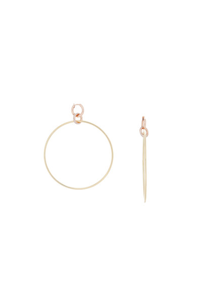 Spinelli Kilcollin - Yellow & Rose Gold Hoop Earrings