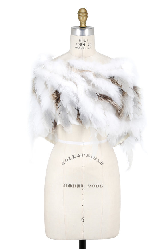 Oscar de la Renta Furs Arctic Marble & Golden Island Fox Shoulder Warmer