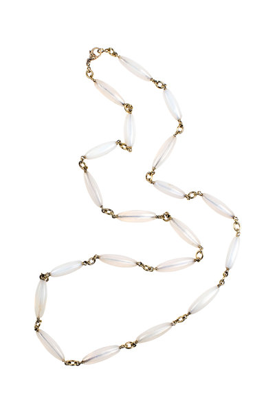 Sylva & Cie - 18K Yellow Gold Agate Necklace