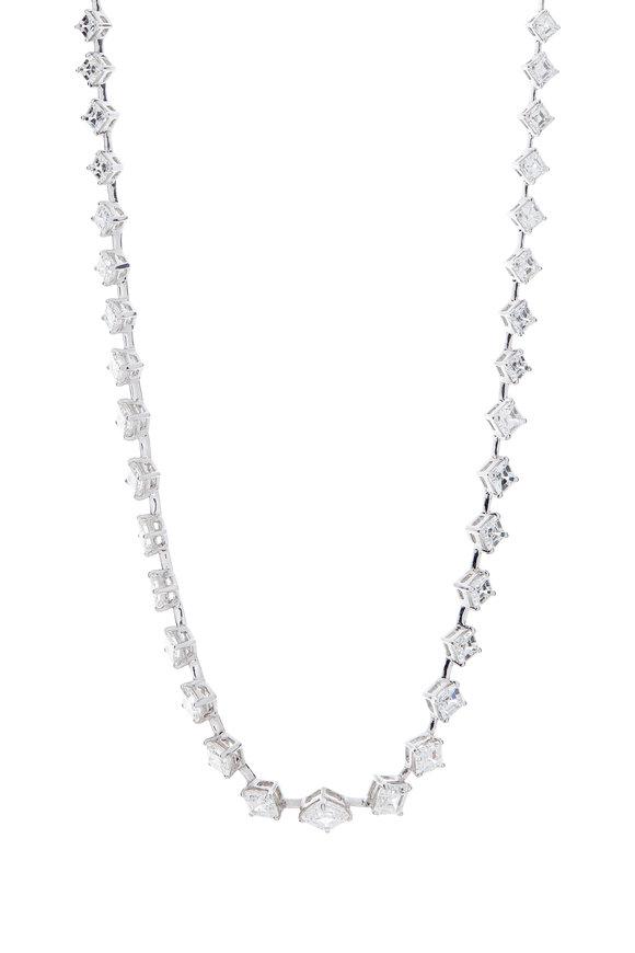 Louis Newman Platinum Diamond Necklace