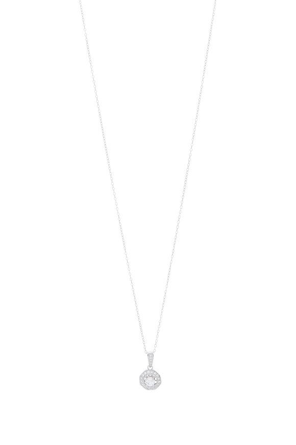Louis Newman White Gold Diamond Pendant Necklace