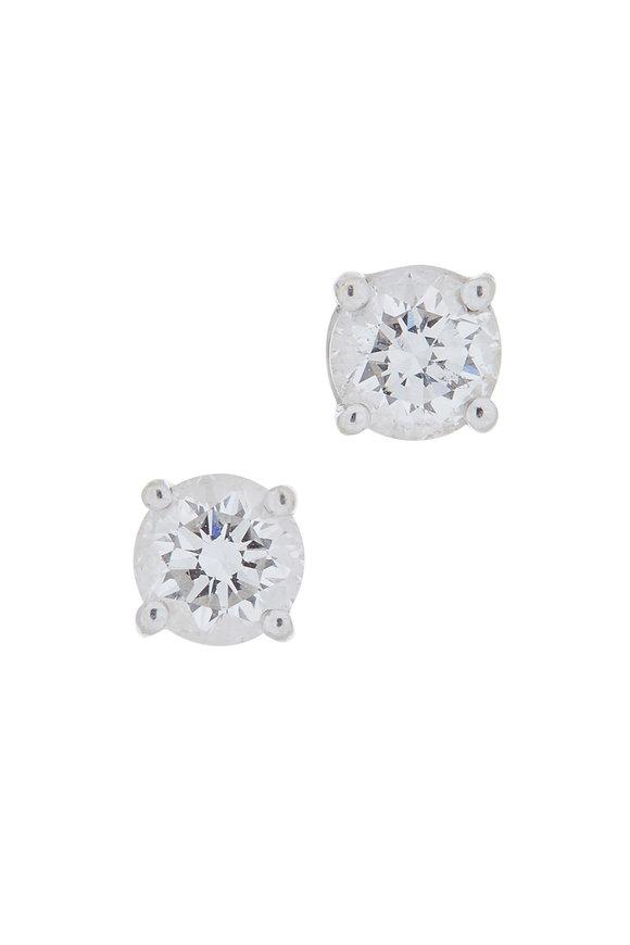 Louis Newman 18K White Gold Diamond Studs