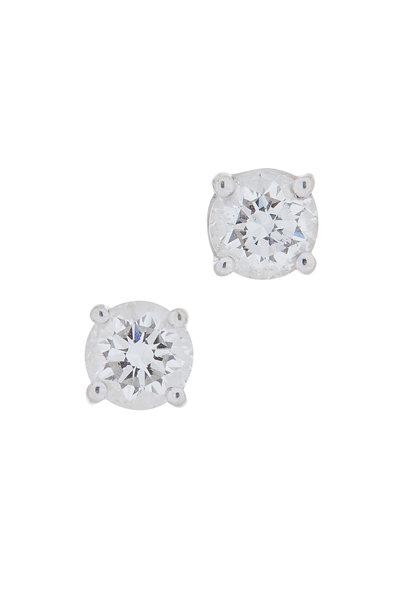Louis Newman - 18K White Gold Diamond Studs