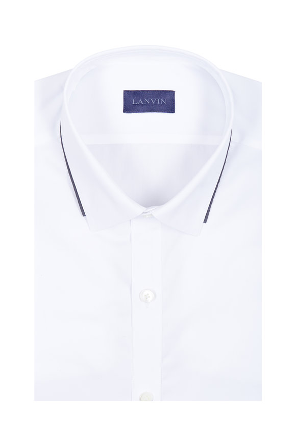 Lanvin White Contrast Trim Dress Shirt