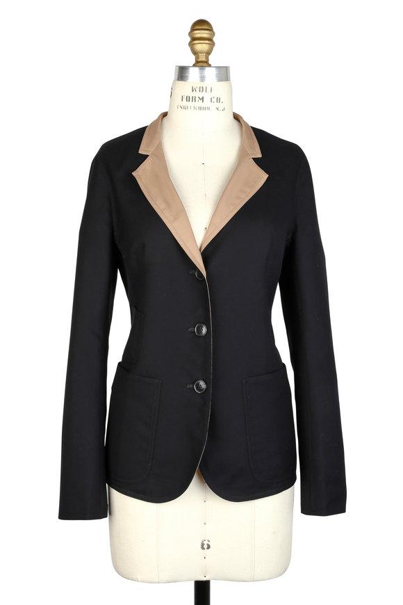 Akris Inoko Black & Nude Cotton Reversible Blazer