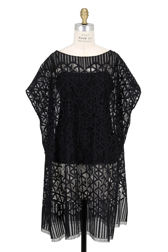 Akris Black Lace Tunic
