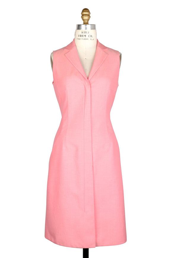Akris Rose Silk Blend Back Cut-Out Sleeveless Dress