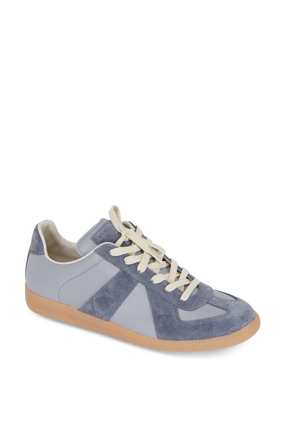 Maison Margiela Replica Gray Leather & Suede Sneaker