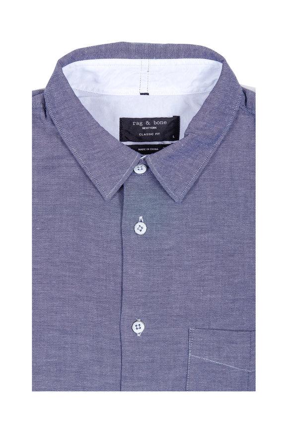 Rag & Bone Beach Blue Double Gauze Cotton Sport Shirt