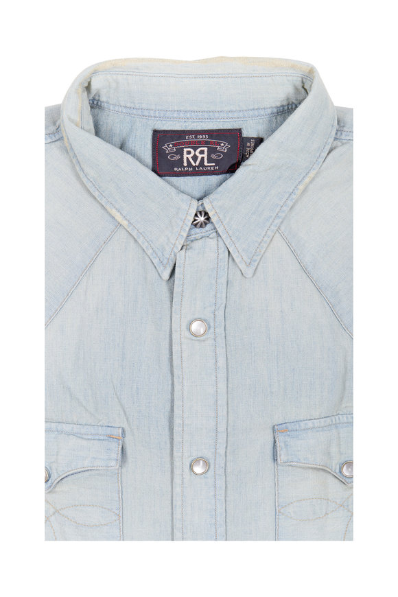 RRL Chambray Western Sport Shirt