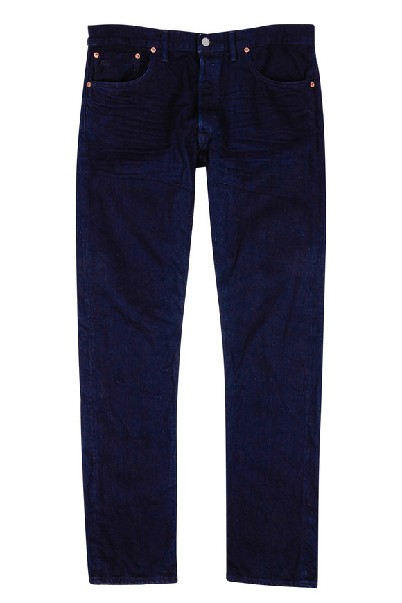RRL Dark Indigo Wash Slim Jean