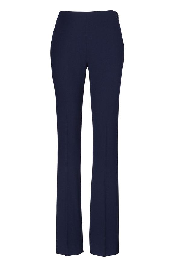 Ralph Lauren Alandra Navy Stretch Wool Pant