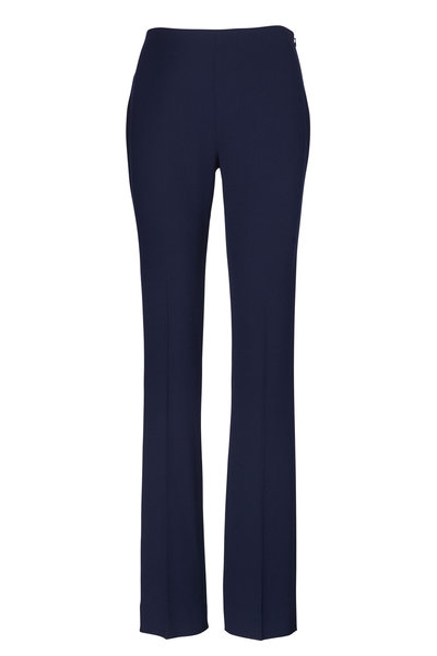 Ralph Lauren - Alandra Navy Stretch Wool Pant