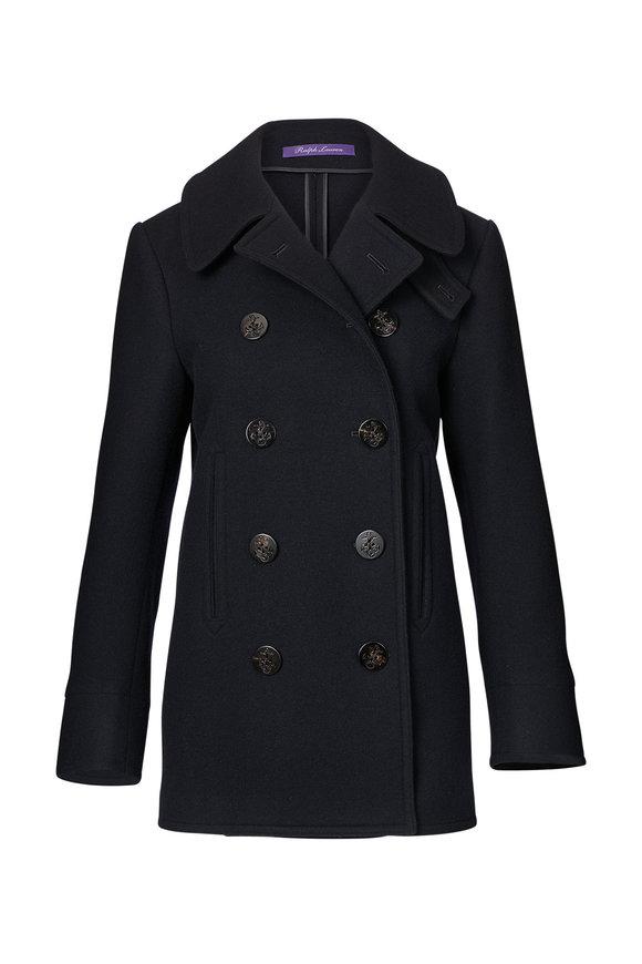 Ralph Lauren Midnight Blue Wool & Cashmere Peacoat