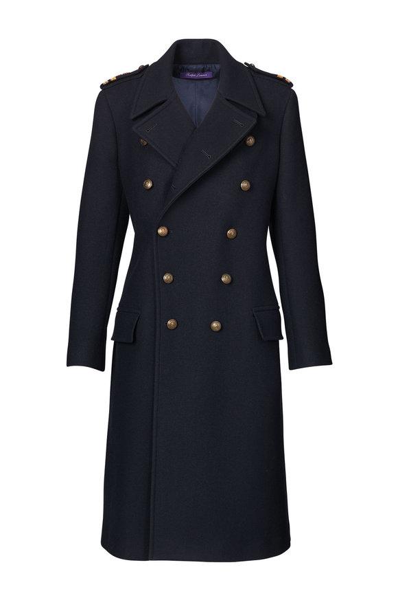Ralph Lauren Bennett Midnight Wool & Cashmere Coat