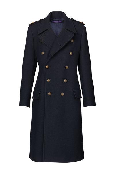 Ralph Lauren - Bennett Midnight Wool & Cashmere Coat
