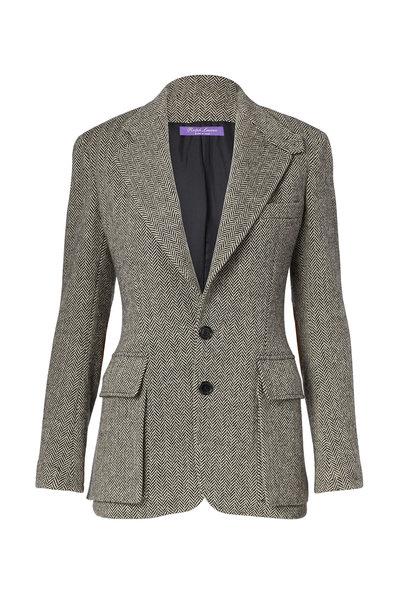 Ralph Lauren - Black & Cream Tweed Jacket