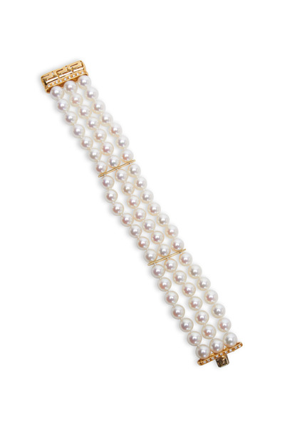 Assael - Yellow Gold Cultured Pearl Diamond Bracelet