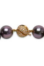 Assael - Yellow Gold Natural Tahitian Pearl Necklace