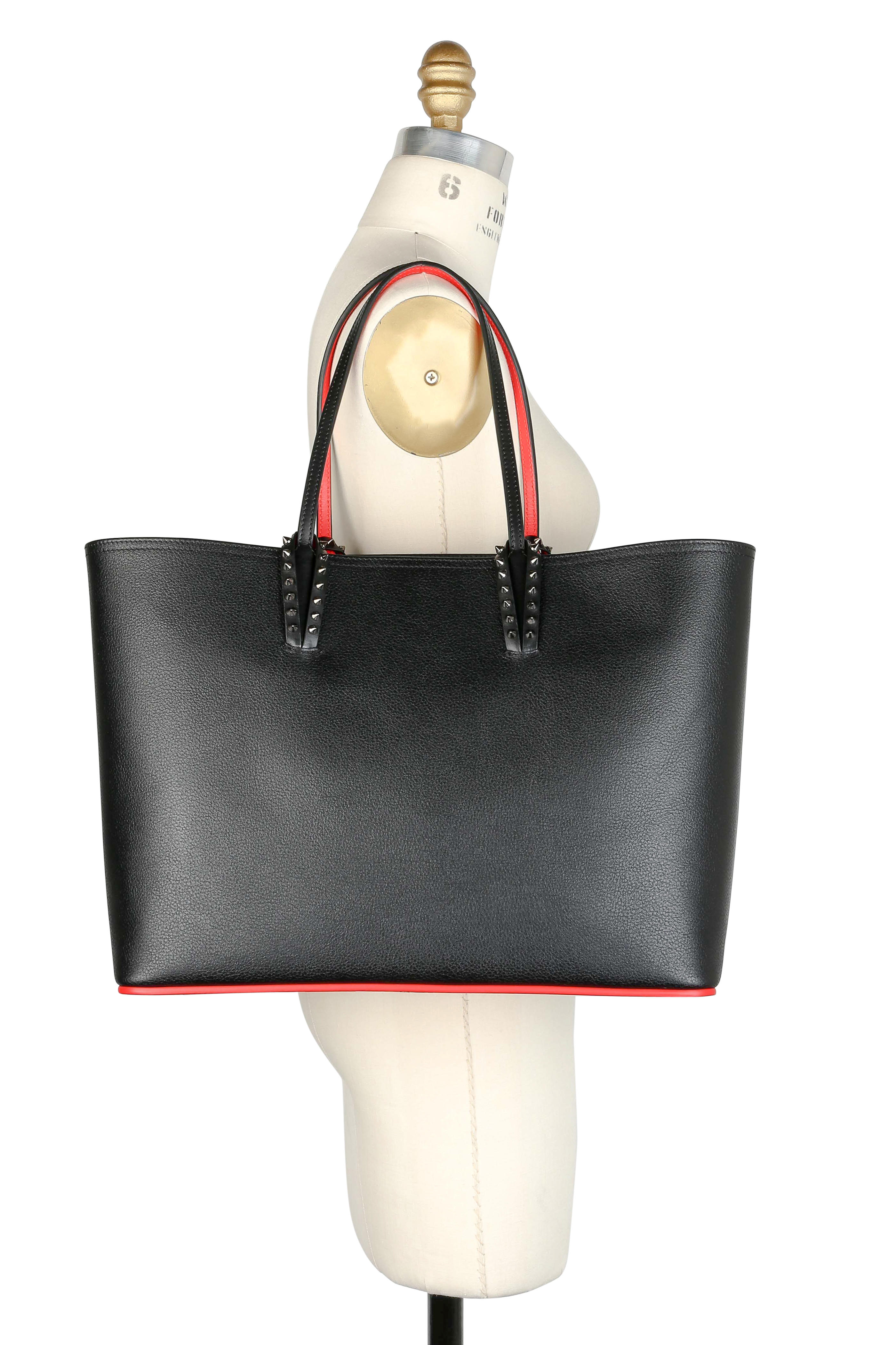 76ce5dec1cc Christian Louboutin - Cabata Black & Red Leather Studded Tote