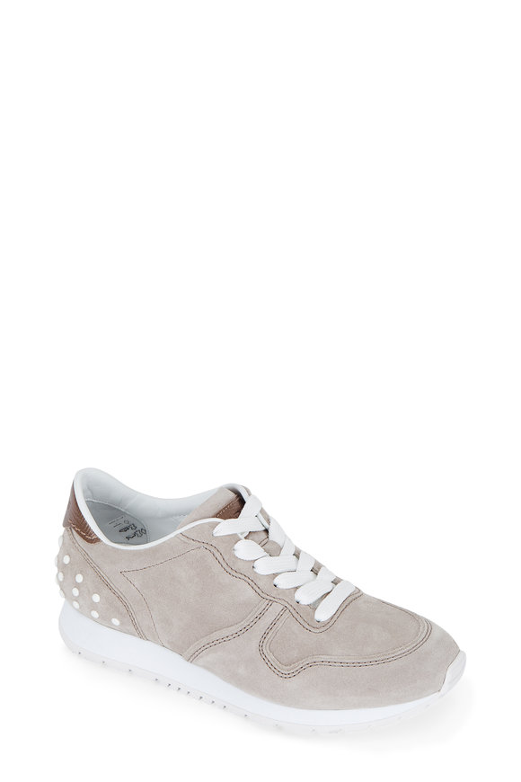 Tod's Stone Suede Sneaker
