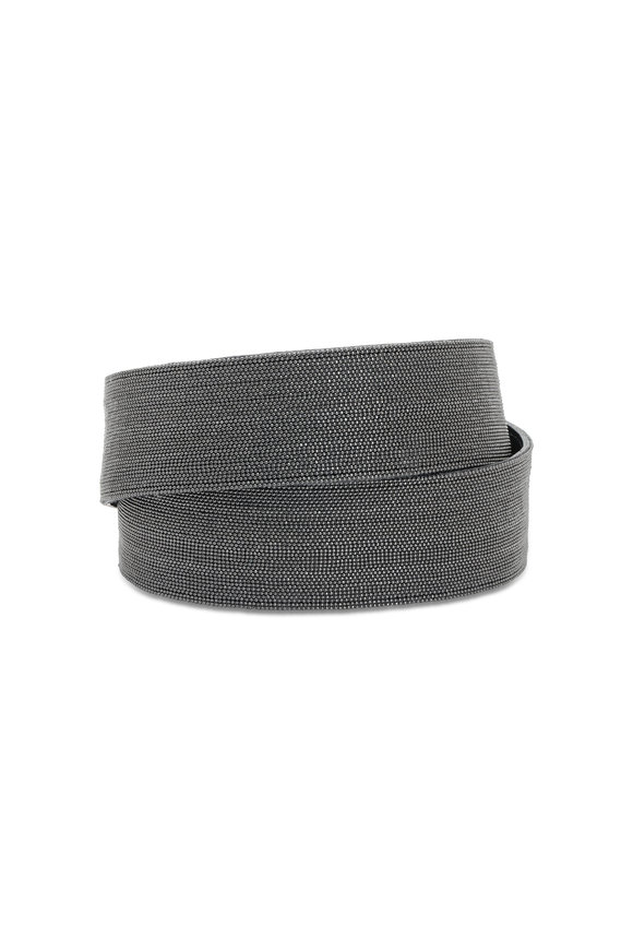 Brunello Cucinelli Black Monili Self-Tie Belt