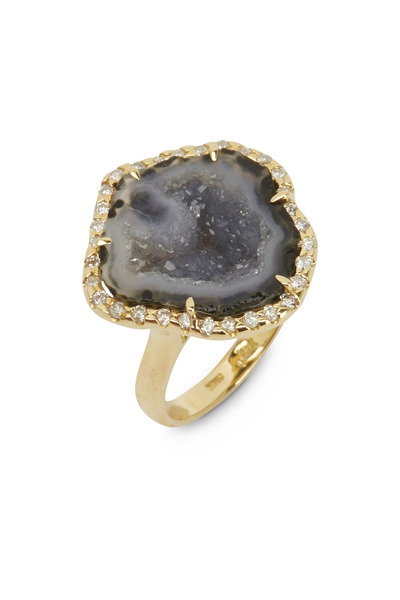 Kimberly McDonald - Yellow Gold Light Geode Ring