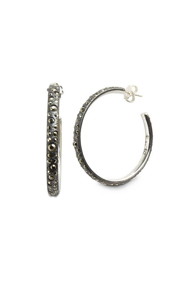 Gourmette Sterling Silver Hoop Earrings