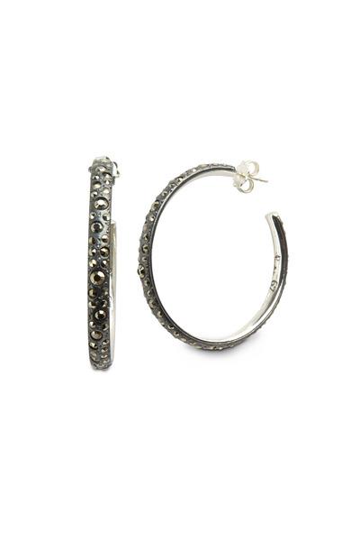 Pomellato - Gourmette Sterling Silver Hoop Earrings
