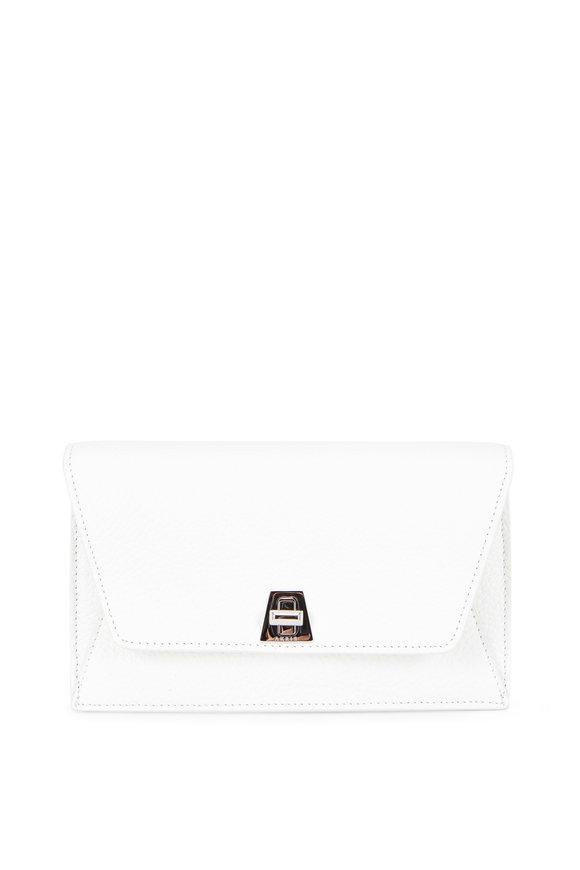 Akris Anouk White Leather Mini Envelope Shoulder Bag