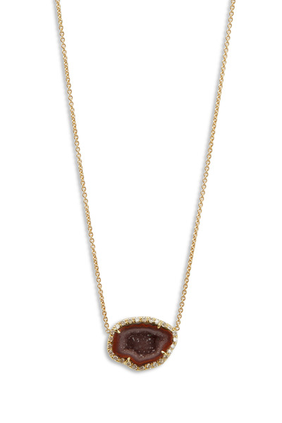 Kimberly McDonald - Yellow Gold Dark Geode Pendant Necklace