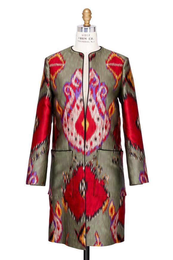 Etro Multicolor Silk Ikat Topper Jacket