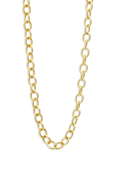 Caroline Ellen - Yellow Gold Oval Link Necklace