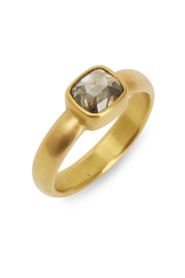20K Yellow Gold Moghul Diamond Ring