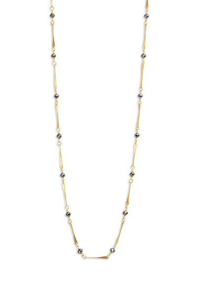 Caroline Ellen - 20K Yellow Gold Black Diamond Necklace