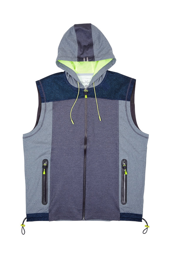 Robert Graham Kobi Carbon Gray Hooded Performance Vest