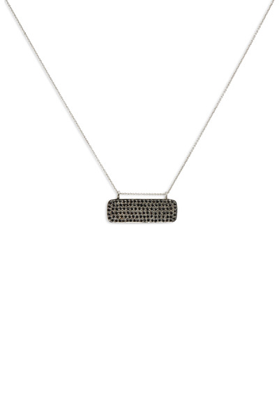 Tulah Jem - Black Spinel Pendant White Gold Chain Necklace