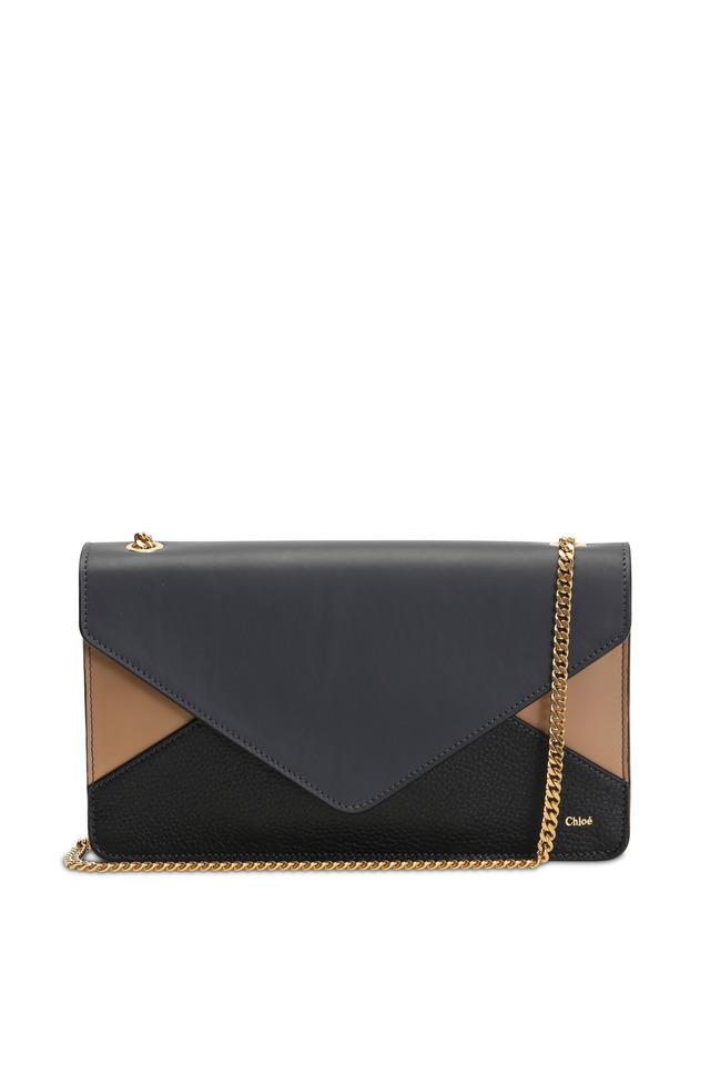Black & Brown Leather Patchwork Handbag