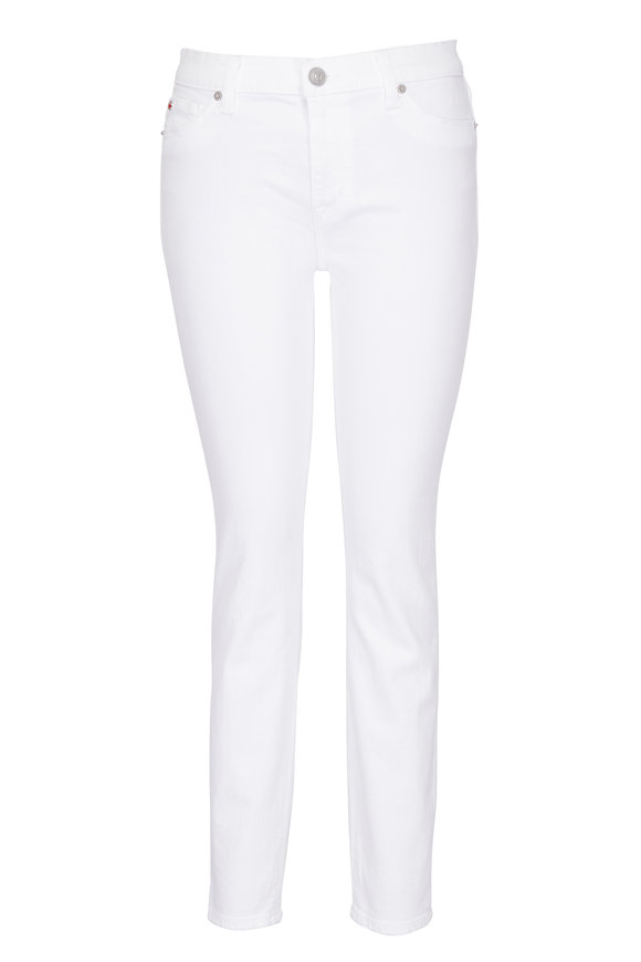 Hudson Clothing Nico White Mid-Rise Skinny Ankle Jean
