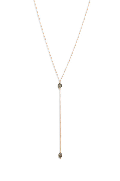 Tulah Jem - Rose Gold Diamond Bead Lariat Necklace