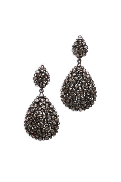 Loren Jewels - Gold & Silver Diamond Teardrop Earrings