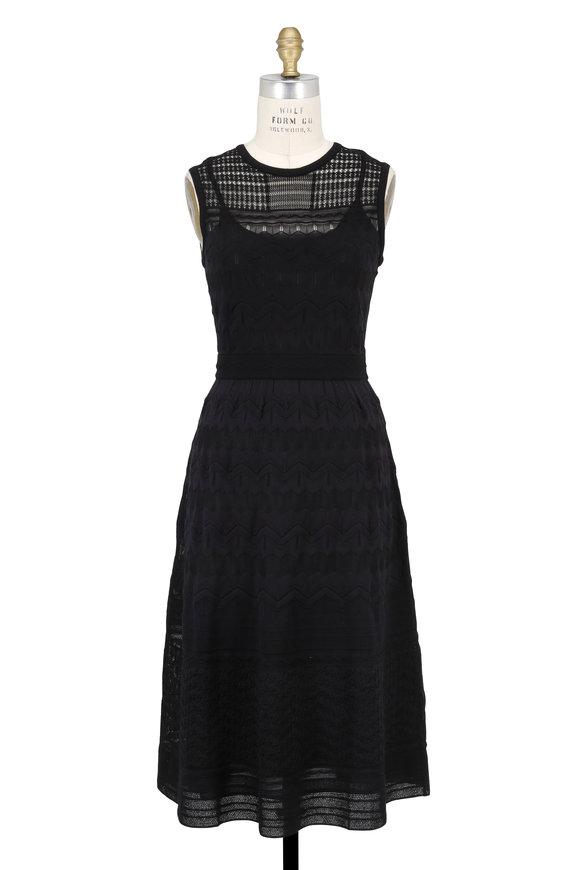 M Missoni Black Knit Sleeveless Midi Dress