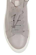 AGL - Taupe Leather Pearl Detail Sneaker
